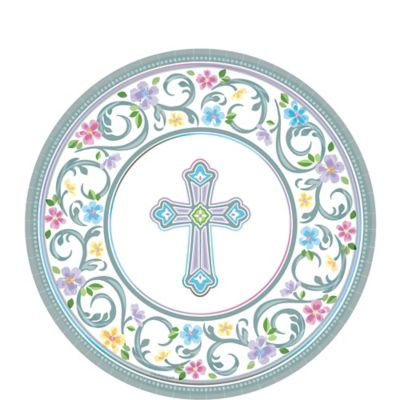 Blessed Day Religious Dessert Plates 18ct
