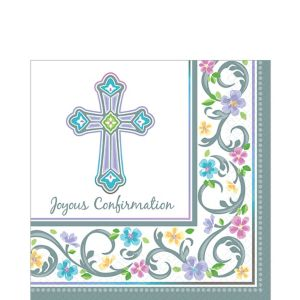 Blessed Day Confirmation Lunch Napkins 36ct