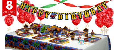 Under Construction Party Supplies Super Party Kit