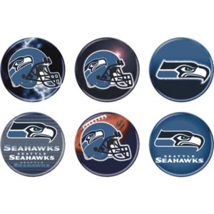 Seattle Seahawks Buttons 6ct