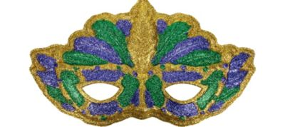 3D Mardi Gras Cat Mask Decoration