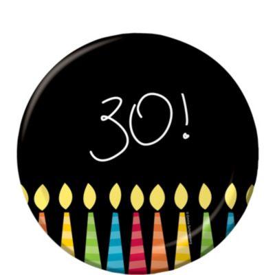 Great 30th Birthday Dessert Plates 8ct