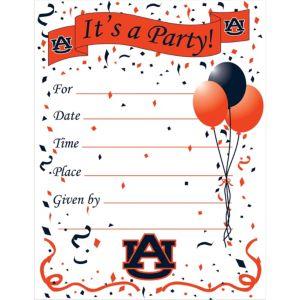 Auburn Tigers Invitations 8ct