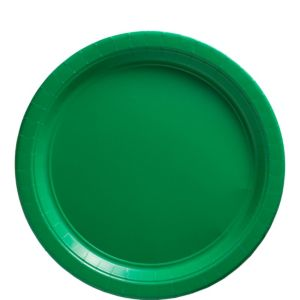 Festive Green Paper Lunch Plates 20ct