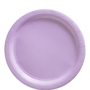 Lavender Paper Lunch Plates 20ct