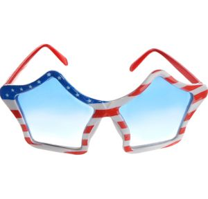 Patriotic American Flag Star Glasses