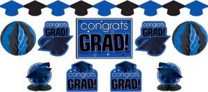 Royal Blue Graduation Decorating Kit 10pc