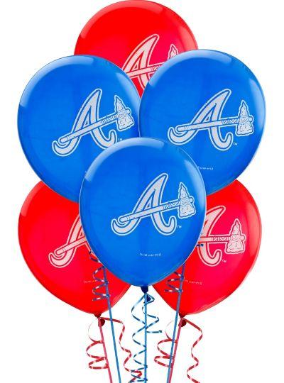 Atlanta Braves Latex Balloons 12in 6ct