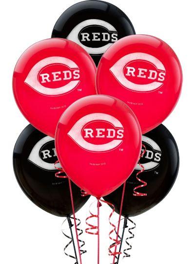 Cincinnati Reds Latex Balloons 12in 6ct