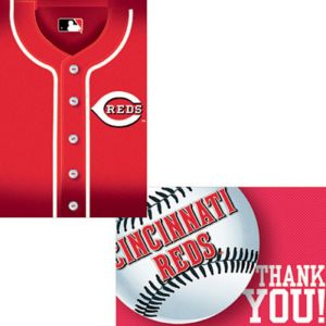 Cincinnati Reds Invitations & Thank You Notes for 8