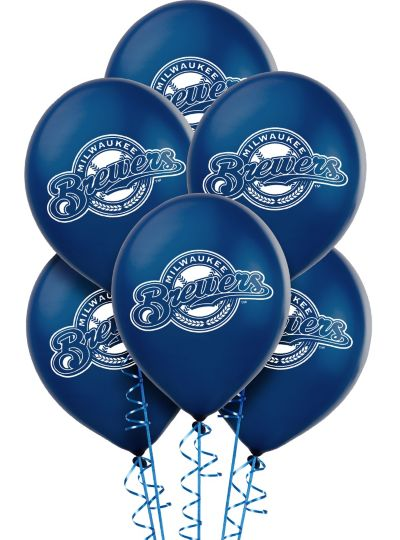 Milwaukee Brewers Latex Balloons 12in 6ct