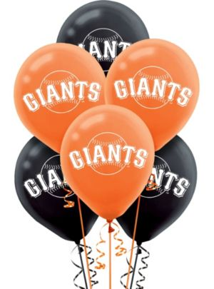 San Francisco Giants Latex Balloons 12in 6ct