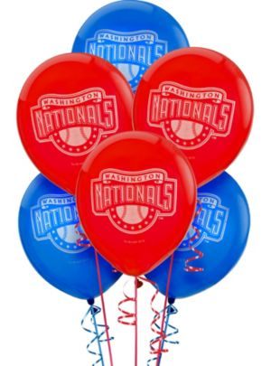 Washington Nationals Latex Balloons 12in 6ct
