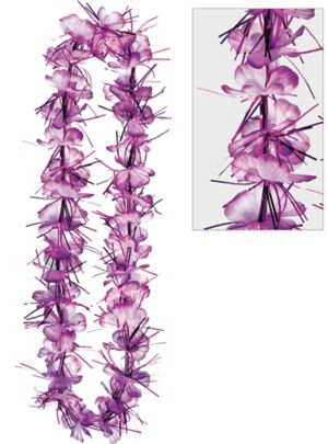 Purple Tinsel Lei
