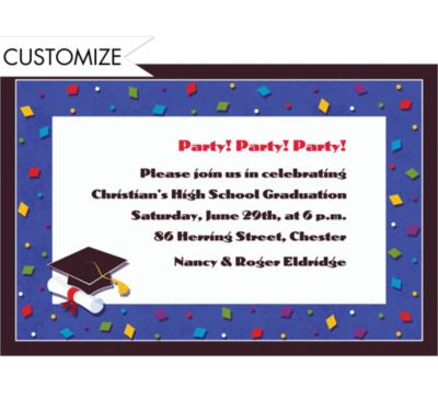 Commencement Celebration Custom Invitation