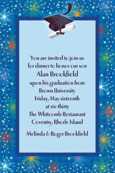 Dazzling Grad Custom Graduation Invitation