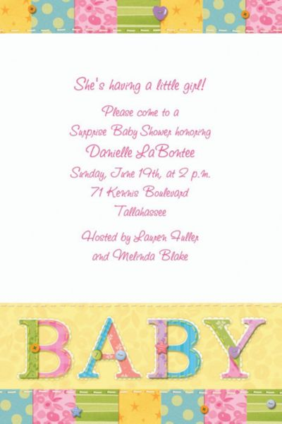 Cute As A Button Custom Baby Shower Invitation