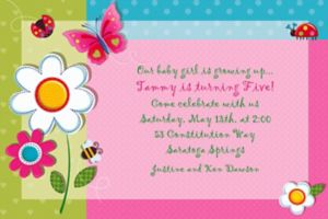Custom Garden Girl Invitations