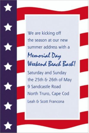 Custom All American Patriotic Invitations