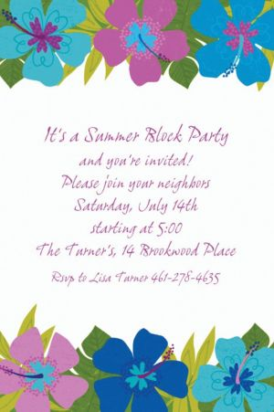 Custom Floral Paradise Cool Invitations