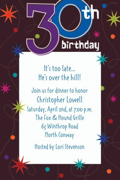 Custom The Party Continues 30th Birthday Invitations