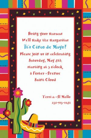 Custom Fiesta Fun Invitations