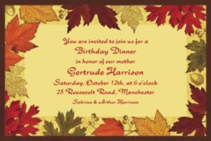 Custom Autumn Medley Invitations
