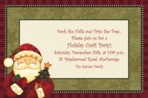 Custom Cozy Santa Invitations