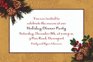 Custom Holiday Splendor Invitations