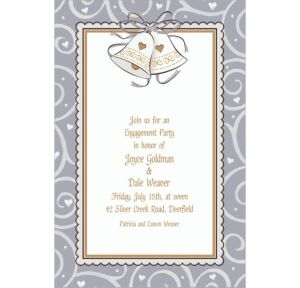 Custom Platinum Proposal Bridal Shower Invitations