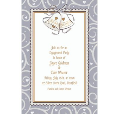 Platinum Proposal Custom Bridal Shower Invitation