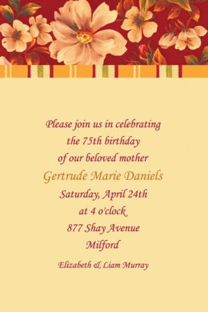 Custom Classic Red Floral Invitations
