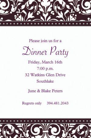 Custom Formal Affair Invitations