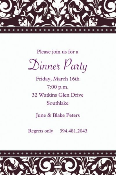 Custom Formal Affair Invitations