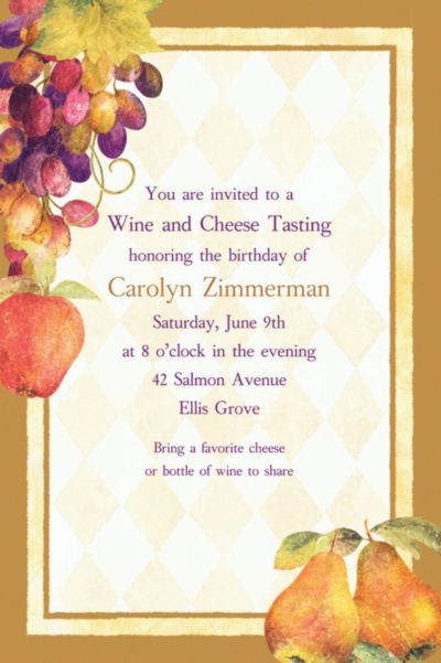 Custom Sonoma Invitations