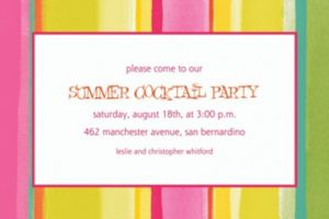 Custom Pink Sunny Stripe Invitations