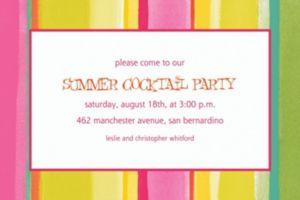 Custom Pink Sunny Stripe Invitations