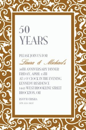Custom Gold Ornamental Scroll Invitations