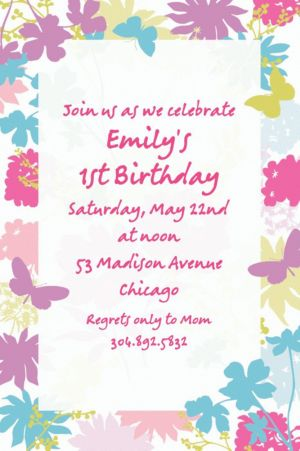Custom Spring Silhouettes Invitations