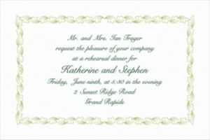 Custom Sage Leaf Scroll Invitations