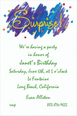 Custom Surprise! Invitations