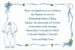 Custom Boy's Christening Outfit Invitations