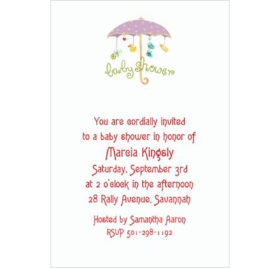 Custom Baby Shower Umbrella Baby Shower Invitations