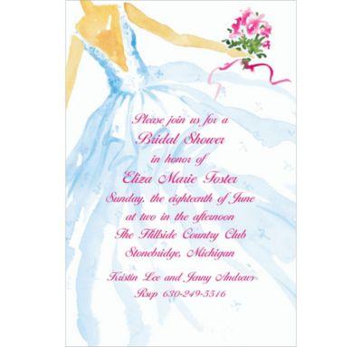 Custom Fashion Bridal Gown Wedding Invitations