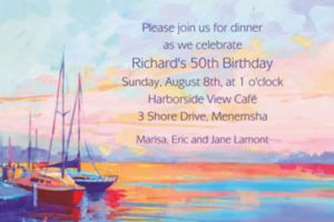 Custom Sailing at Sunset Invitations
