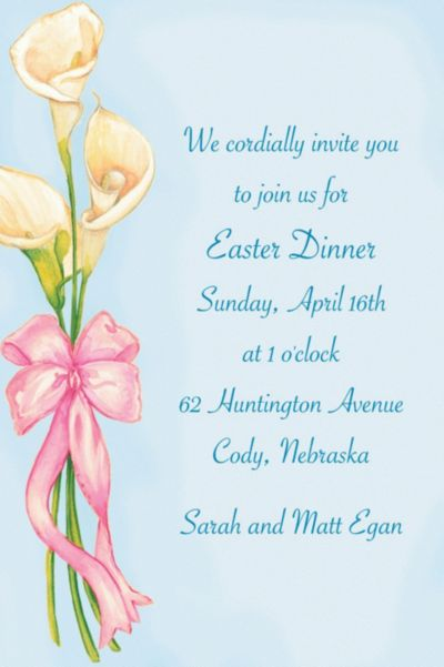 Spring Lilies Custom Invitation