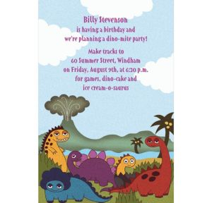 Custom Little Dinosaurs Invitations