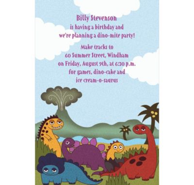 Little Dinosaurs Custom Invitation