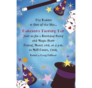 Custom Magic Show Border Invitations