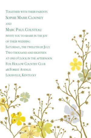 Custom Brilliant Blooms & Branches Invitations